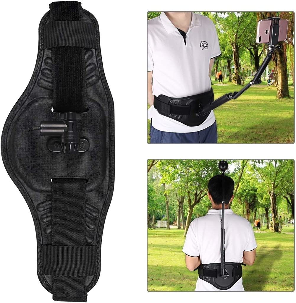 Insta360 ONE X Waist Belt Mount Strap with Adapter /& Screw for GoPro Fusion DJI New Pocket for DJI Gopro Action Camera Ricoh Theta S//Theta V//Theta SC36 and Other Panorama Action Cameras