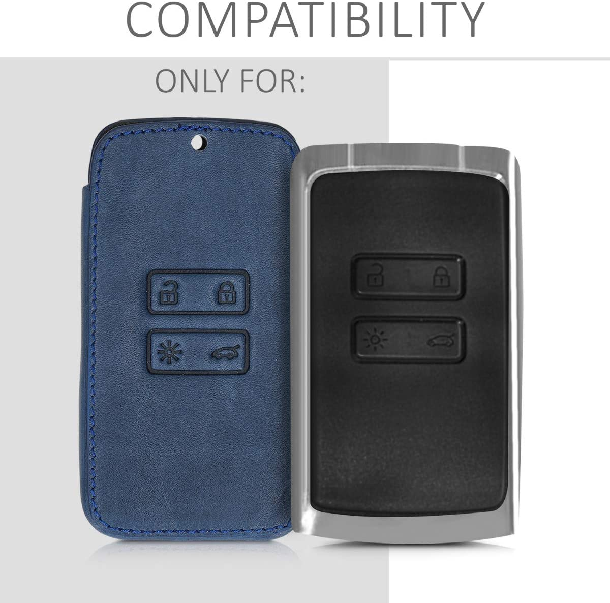 kwmobile Key Cover Compatible with Renault Moon and Mountains