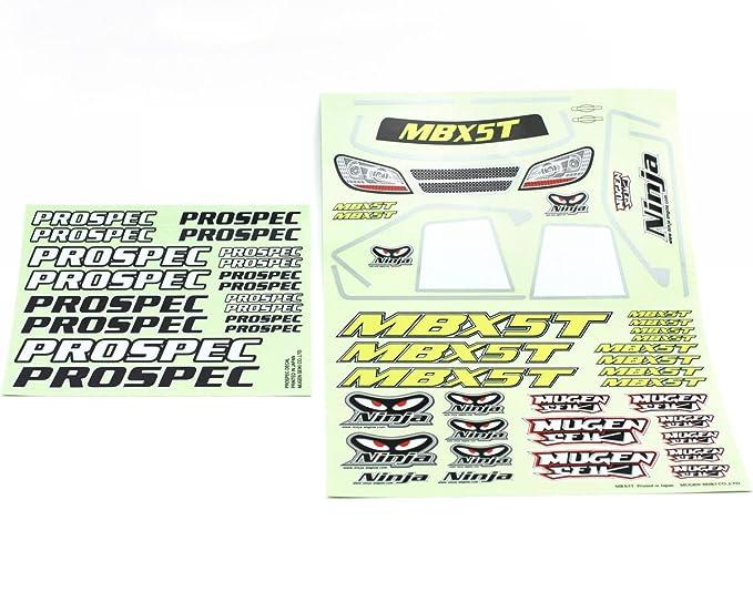 Amazon.com: Mugen mbx5t ProSpec calcomanía E0032: Toys & Games