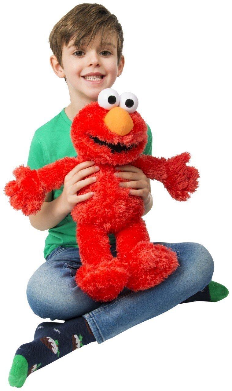 "123 Sesame Street 18/"" Tickle Me Elmo Laughs /& Giggles Childrens Kids Cuddly Toy"