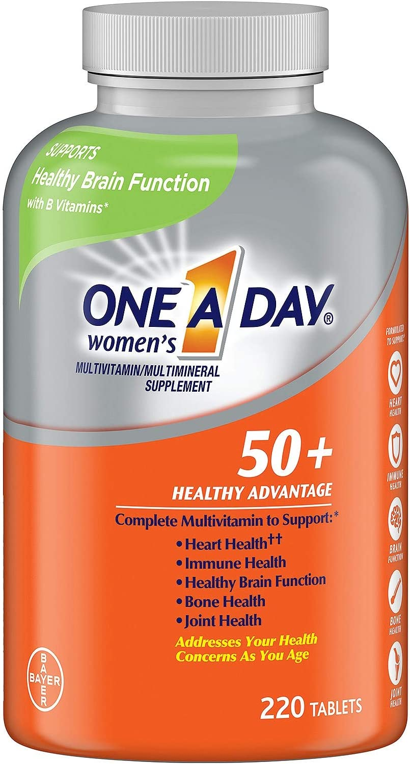 One A Day® Women's 50+ Multivitamin (220 Tablets) (Pack of 2)
