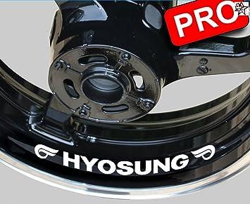 8 pegatinas moto Hyosung Pegatinas Bike Motor Llanta de llantas Interior borde decorativo para: Amazon.es: Coche y moto