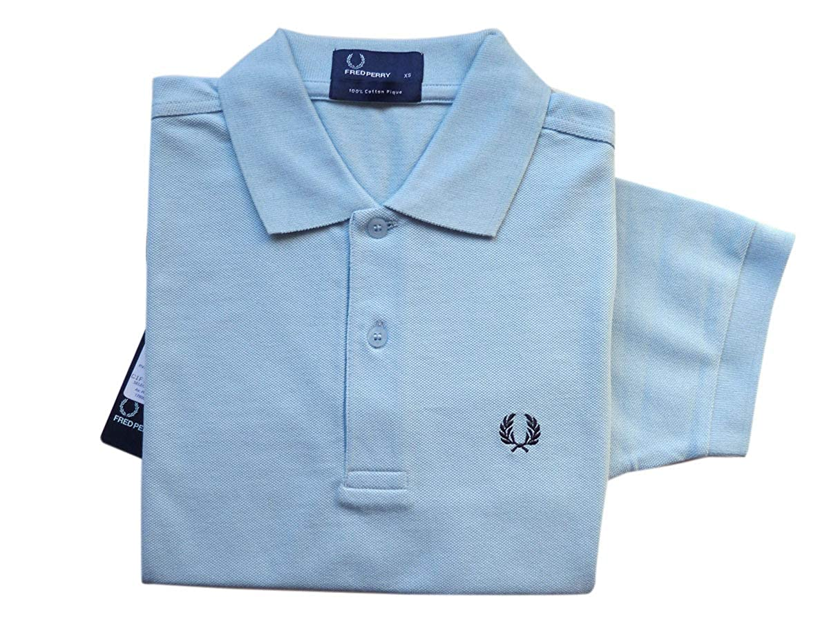 Fred Perry Polo Hombre Ref 2408 Azul Claro Talla XS: Amazon.es ...