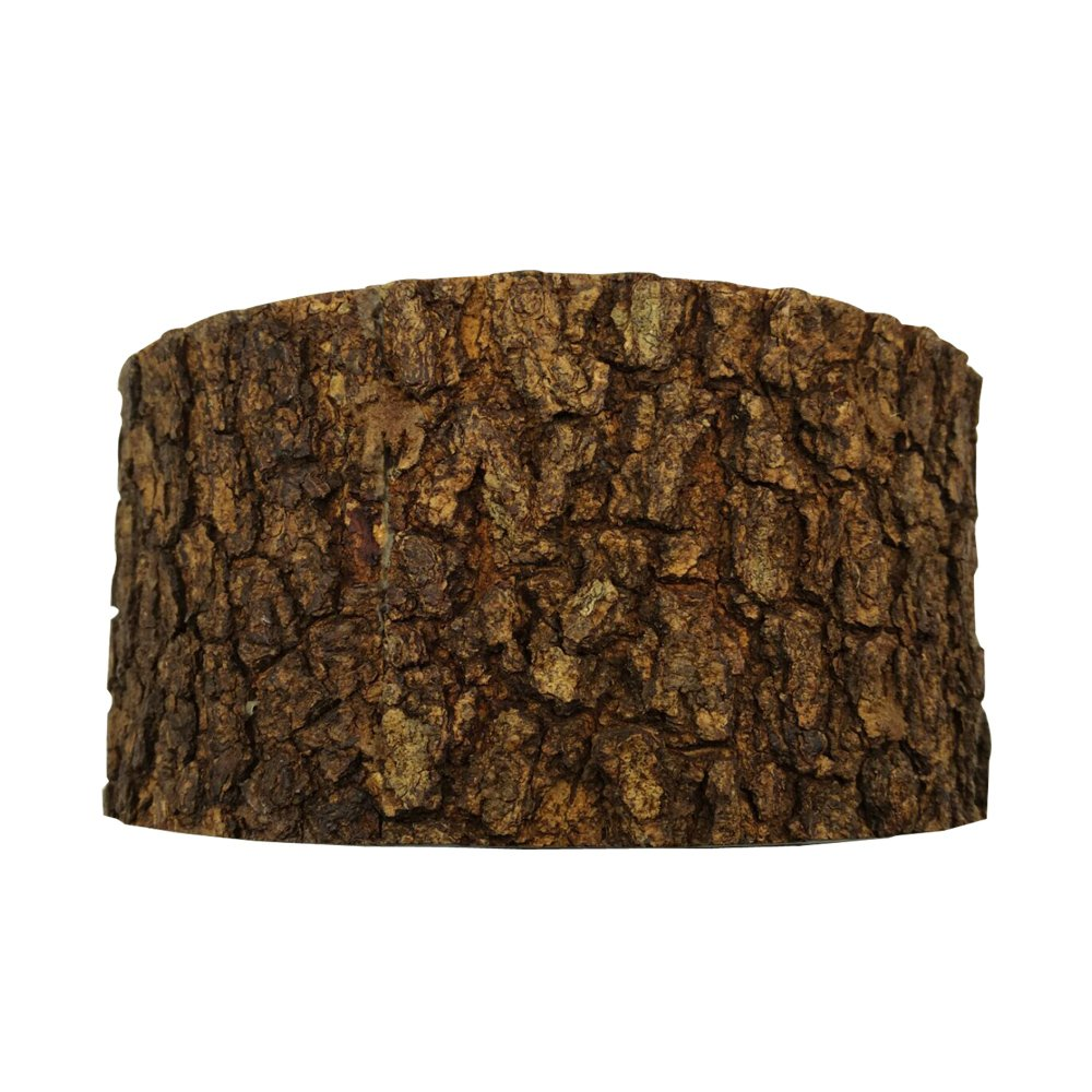 Display Riser, Food Riser, Food Display - Acacia Wood - Large - Varnished with Bark - 10'' x 5'' - Round - 1ct Box - Restaurantware