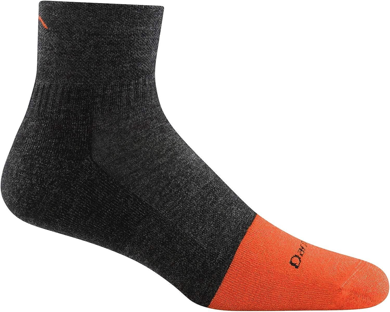 Darn Tough Men's 1/4 Steely Midweight Sock with Cushion & Full Cush Toe Box