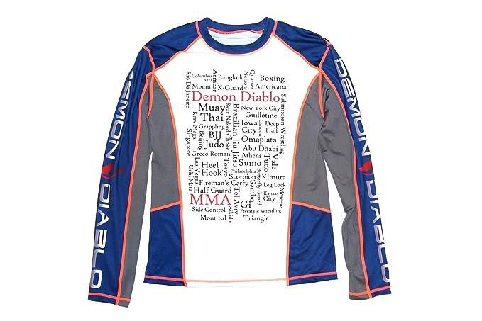 Amazon.com   Demon Diablo Men s Long Sleeve BJJ Rashguard for Grappling    MMA   Sports   Outdoors 6bc0c294ddd