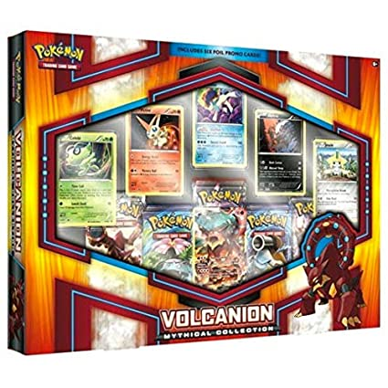 amazon com pokemon tcg volcanion mythical collections toys games