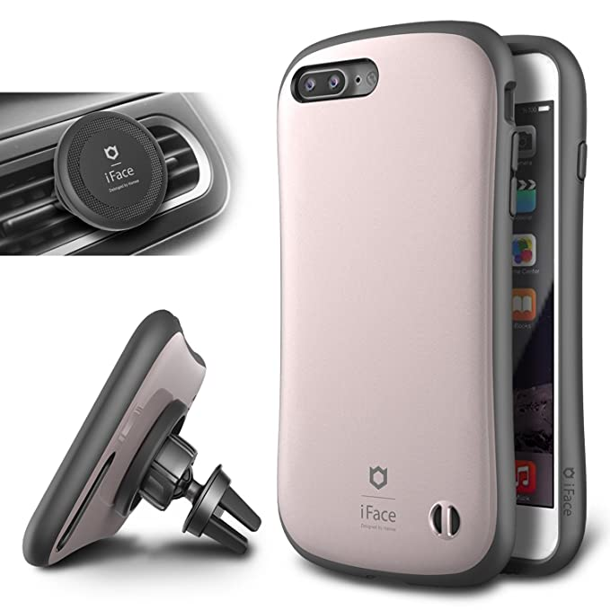 the latest a5fcd ea7f5 iPhone 7 Plus Case and Car Holder, iFace [Duo Series] 2in1 Rugged  Protective Hard Case with Magnetic Air Vent Car Mount Kickstand For Apple  iPhone 7 ...