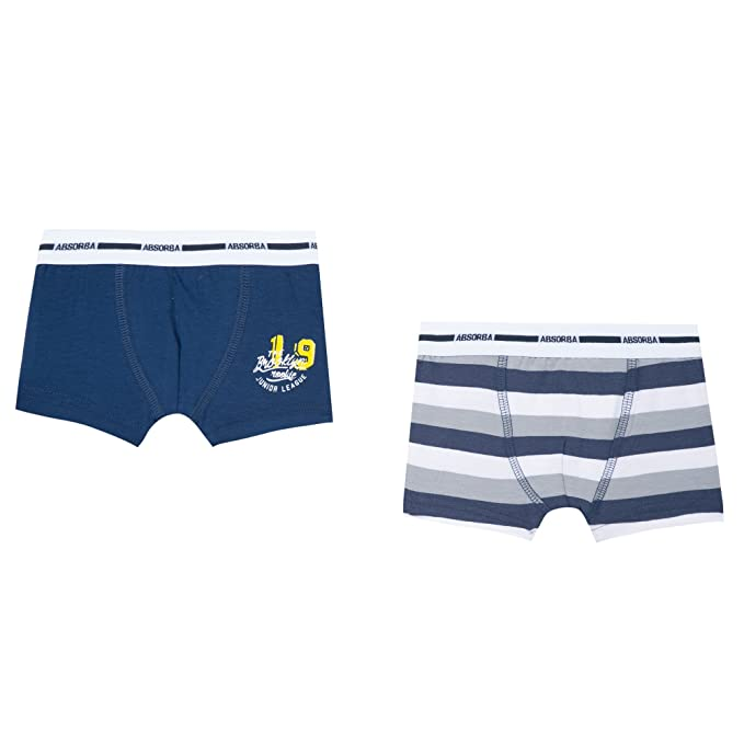 Absorba Underwear 2 Boxers Junior League, Niños, Bleu (hussard), 5 años