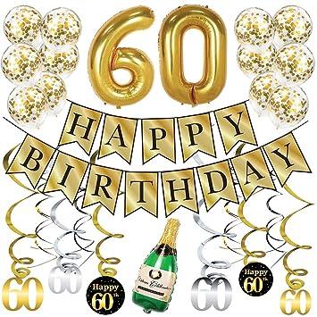 Sterling James Co. Paquete de Oro para Fiestas de 60 años ...