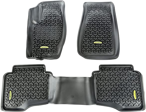 Outland 391292028 Black Front Row Floor Liner For Select Jeep Commander and Grand Cherokee Models