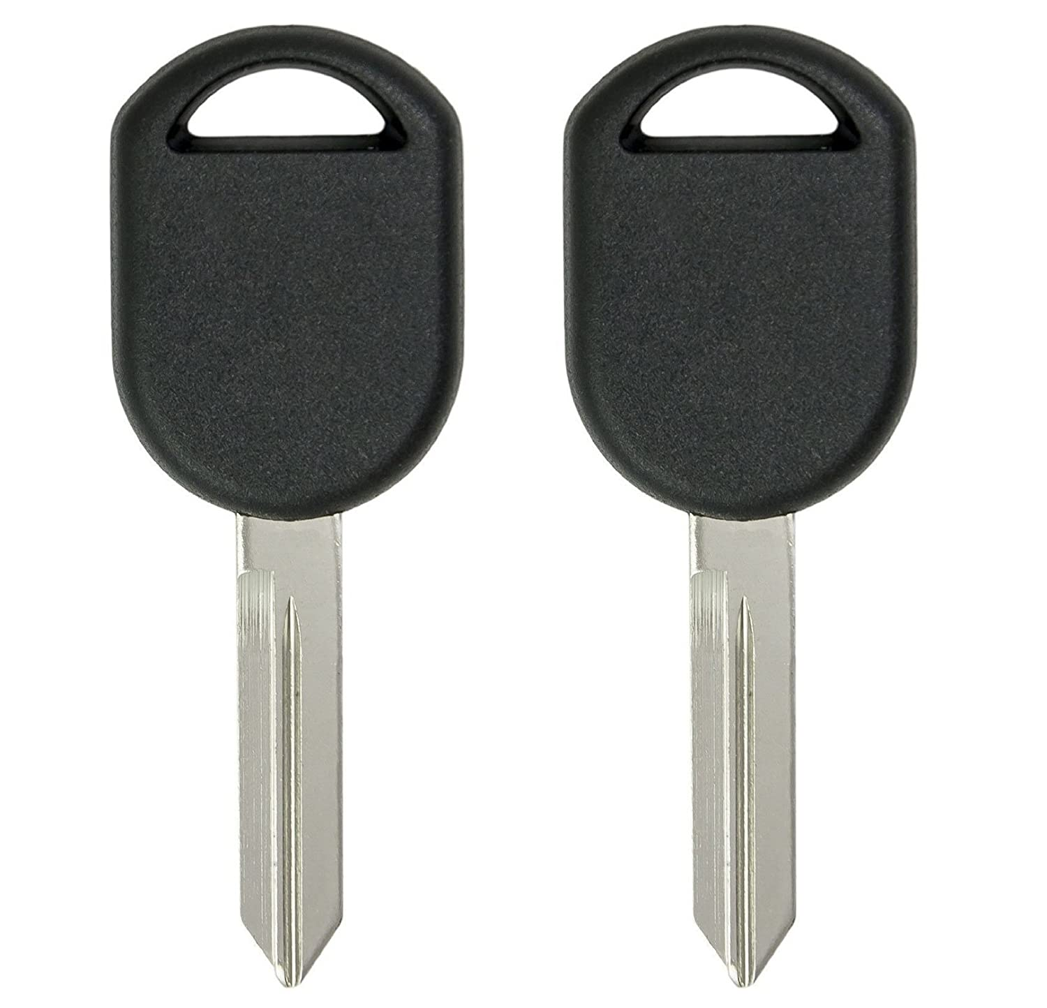 CanadaAutomotiveSupply © - 2 New Uncut Replacement 80 Bit Transponder Ignition Car Keys for Select Ford Lincoln w/Free DIY Programming Guide
