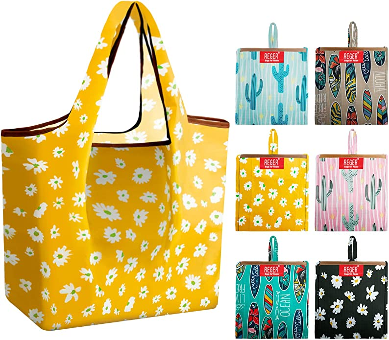 Plastic Free Zero Waste Handmade. Foldable Compact Cotton Bag Farmers Market Tote Grey Polka Dots Reusable Eco-Friendly Bag Grocery Bag