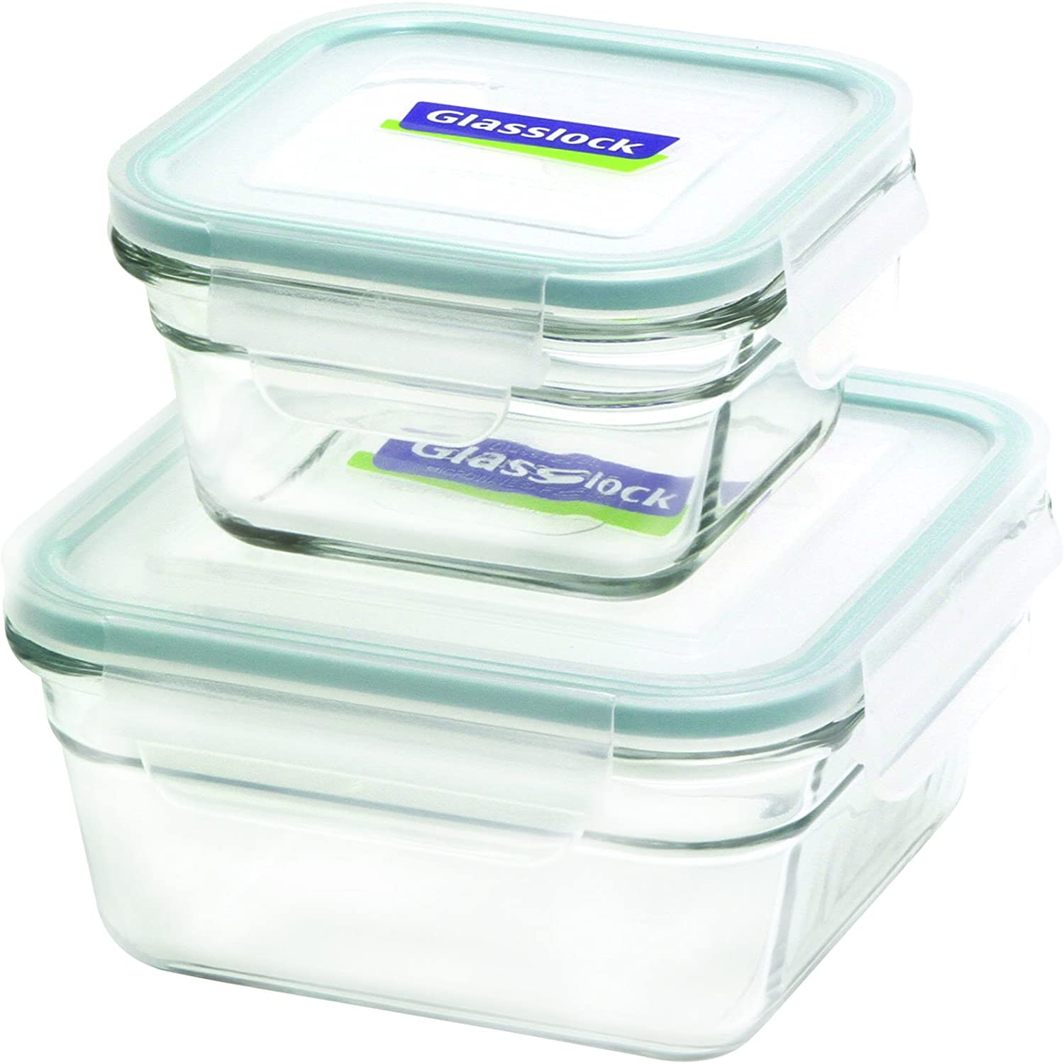 Glasslock 11342 4-Piece Square Oven Safe Container Set