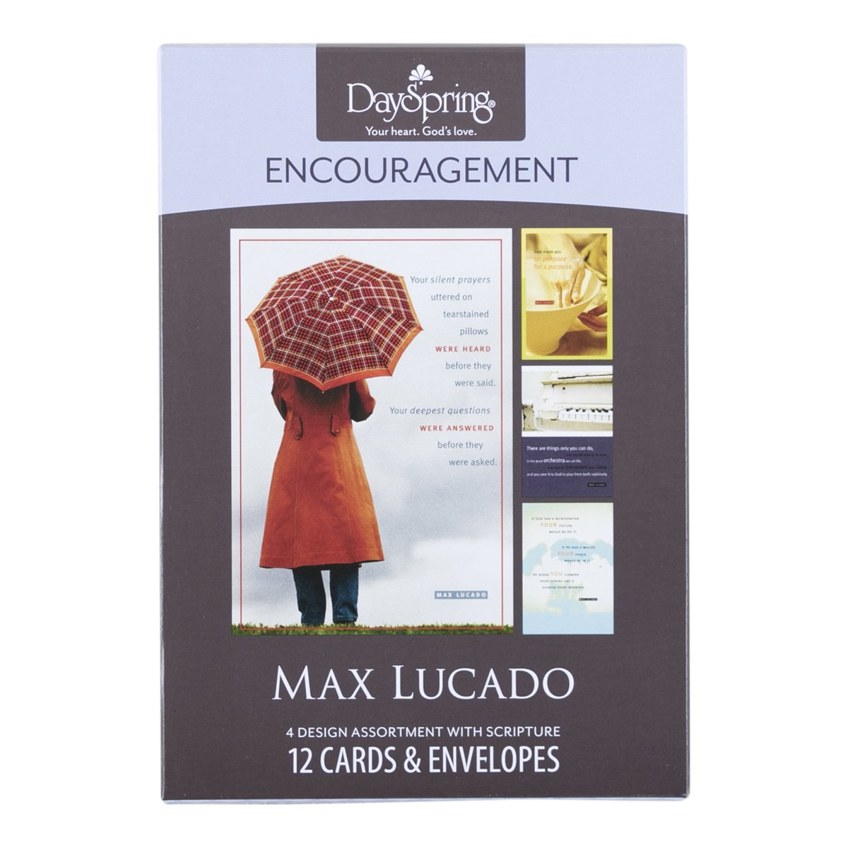 Amazon dayspring encouragement boxed greeting cards w embossed amazon dayspring encouragement boxed greeting cards w embossed envelopes max lucado 12 count office products kristyandbryce Choice Image