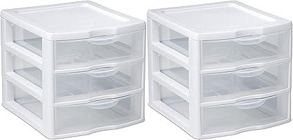Organizer Mini  Drawer Wht Sm Pack Of