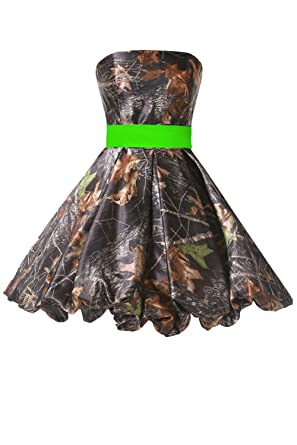 2b9c2b865bcbe DINGZAN Modest Cocktail Graduation Dresses Camo Prom Homecoming Gown Short  2 Apple Green