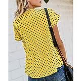 Women's Cute Polka Dot Print T-Shirt Summer
