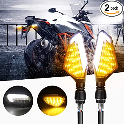 Motorcycle Turn Signal Lights, Lavmar Universal Led Front Rear Indicator  Blinker Daytime Running Lights For Harley Honda Kawasaki Yamaha Suzuki