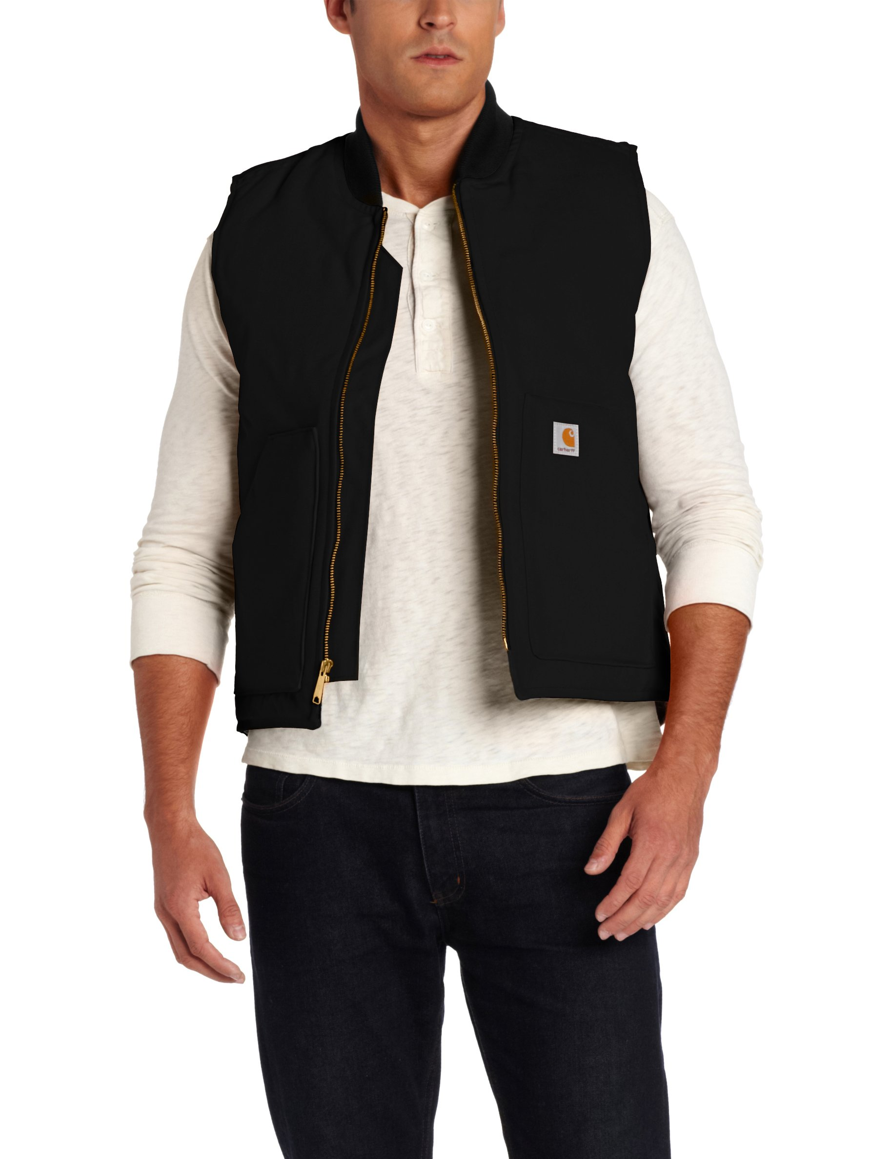 Carhartt Men's Arctic-Quilt Lined Duck Vest (Regular and Big & Tall Sizes), Black, Large by Carhartt