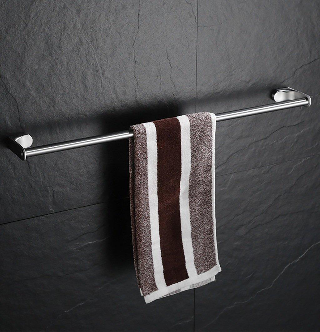 バスルームの棚 304ステンレススチールタオルバーミシン目一本の延長壁バスルームタオルラック バスルームタオル収納ラック (サイズ さいず : 70センチメートル) B07DBWQ9B7 70センチメートル 70センチメートル