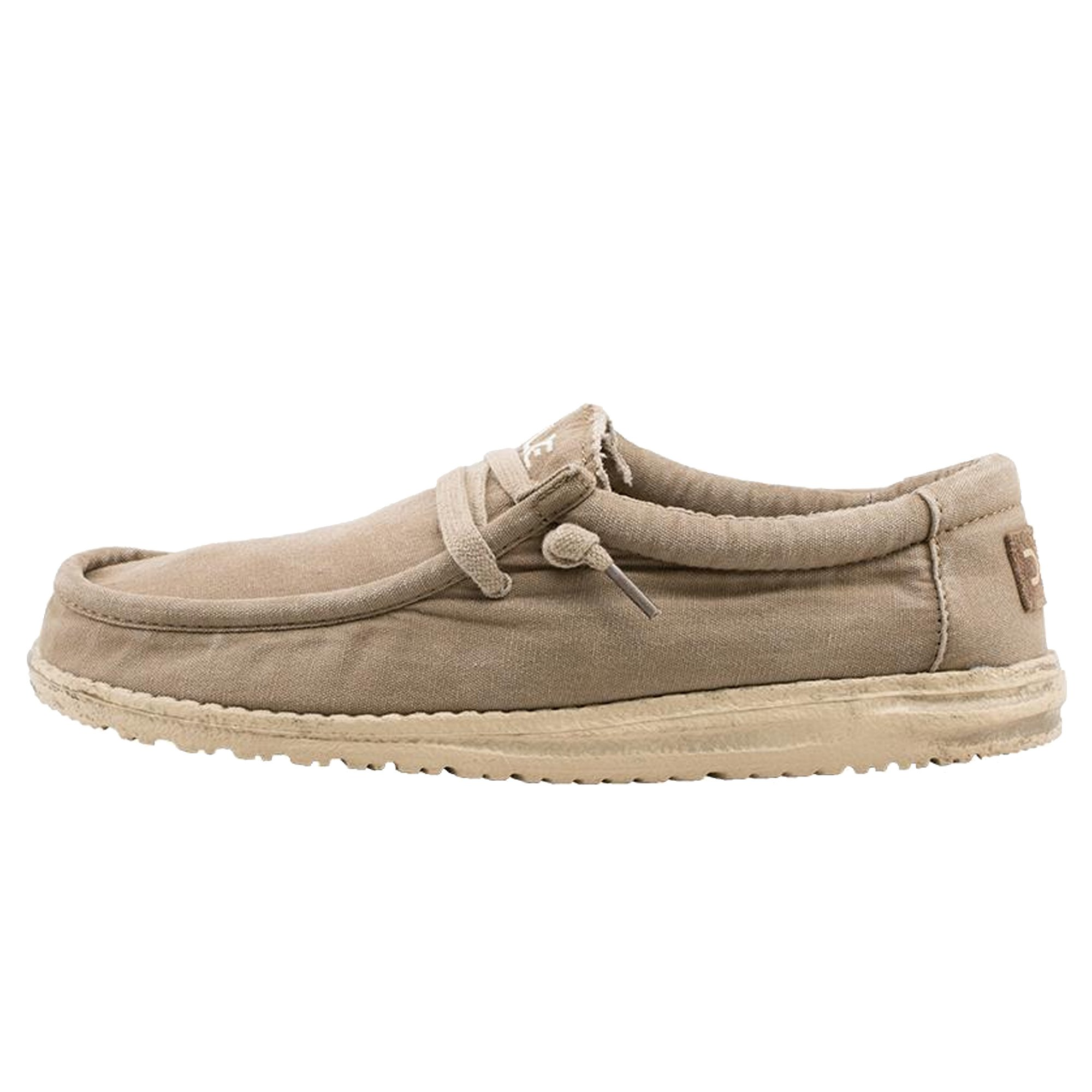 Hey Dude Men's Wally Washed Loafers-Chestnut-12