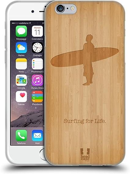 Head Case Designs Surf en Bois Sports Extrêmes - Collection 2 Coque en Gel Doux Compatible avec Apple iPhone 6 / iPhone 6s