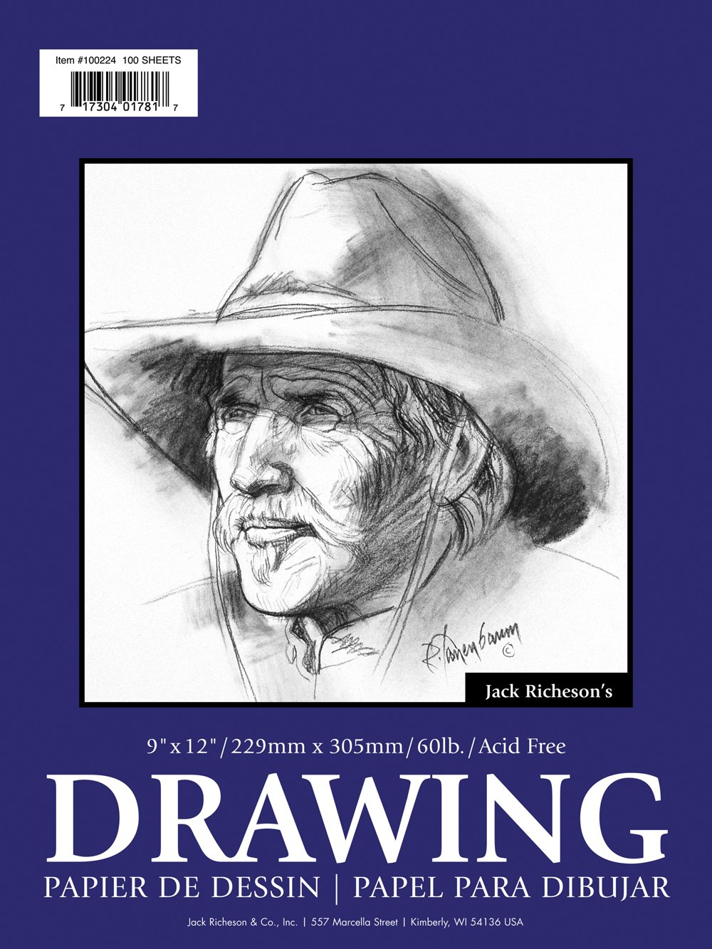 Jack Richeson 14-Inch-by-17-Inch Drawing Paper Pad, 100-Sheet by Jack Richeson