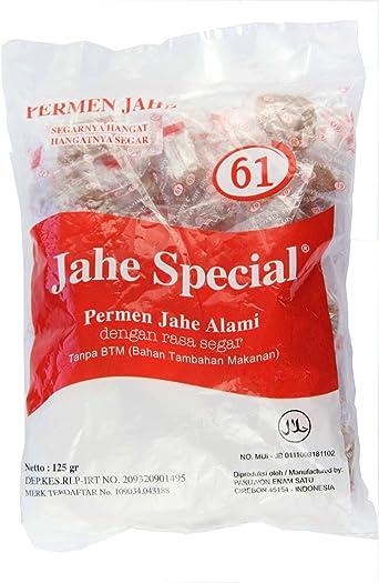 Jahe Spesial 61 - Caramelo de jengibre, 125 gramos: Amazon.es ...