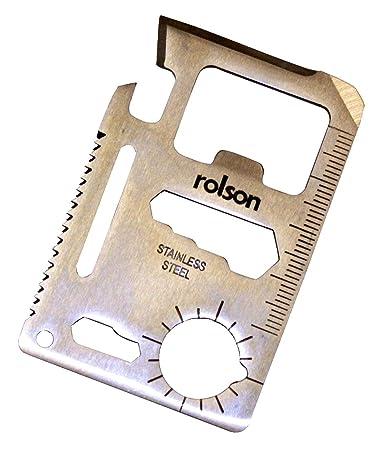 Rolson - Tarjeta multiusos de supervivencia (contiene ...
