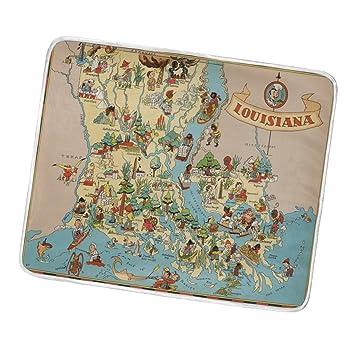 Amazon.com: Vintage 1935 Louisiana State mapa manta, ligera ...