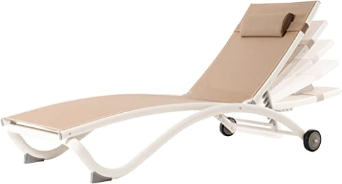 Vivere Glendale Adjustable Aluminum Lounger