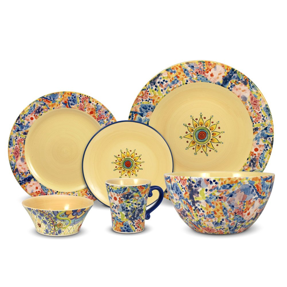 Pfaltzgraff Merisella 32 Piece Dinnerware Set with Vegetable Bowl, Service for 8 by Pfaltzgraff