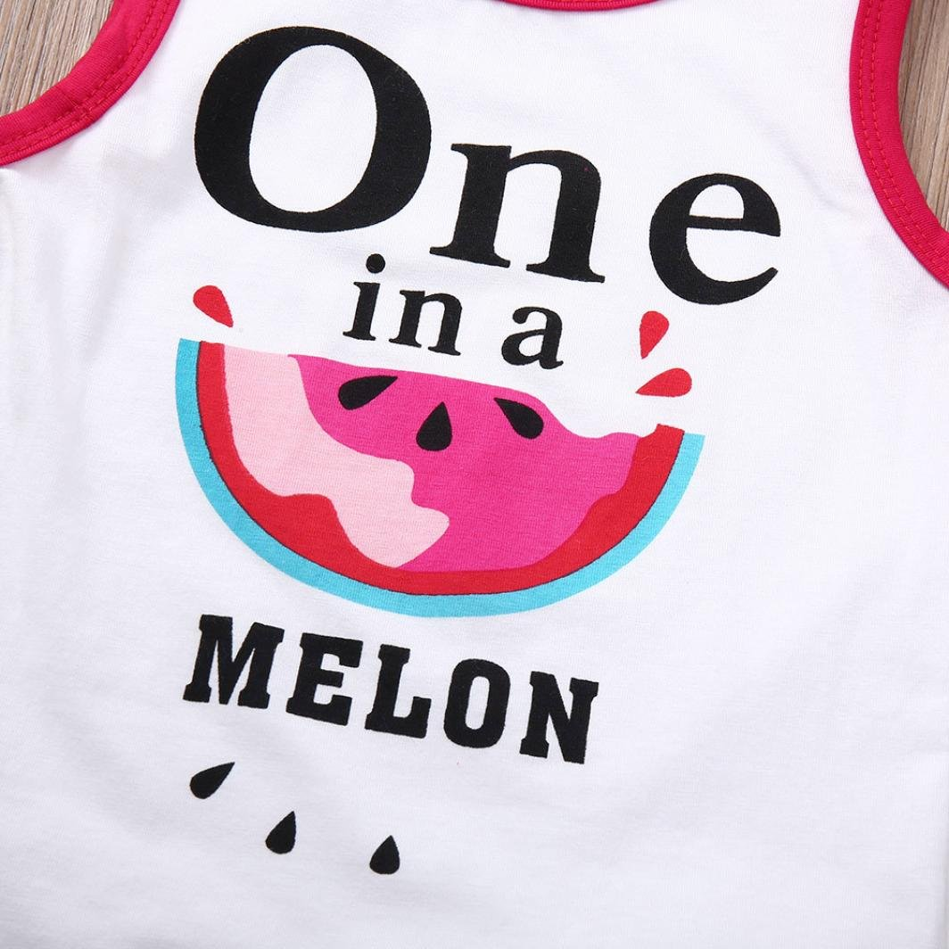 KONFA Toddler Baby Girls Vest+Watermelons Shorts,Suitable for 0-4 Years Old,Little Princess 2Pcs Outfits Clothes Sets