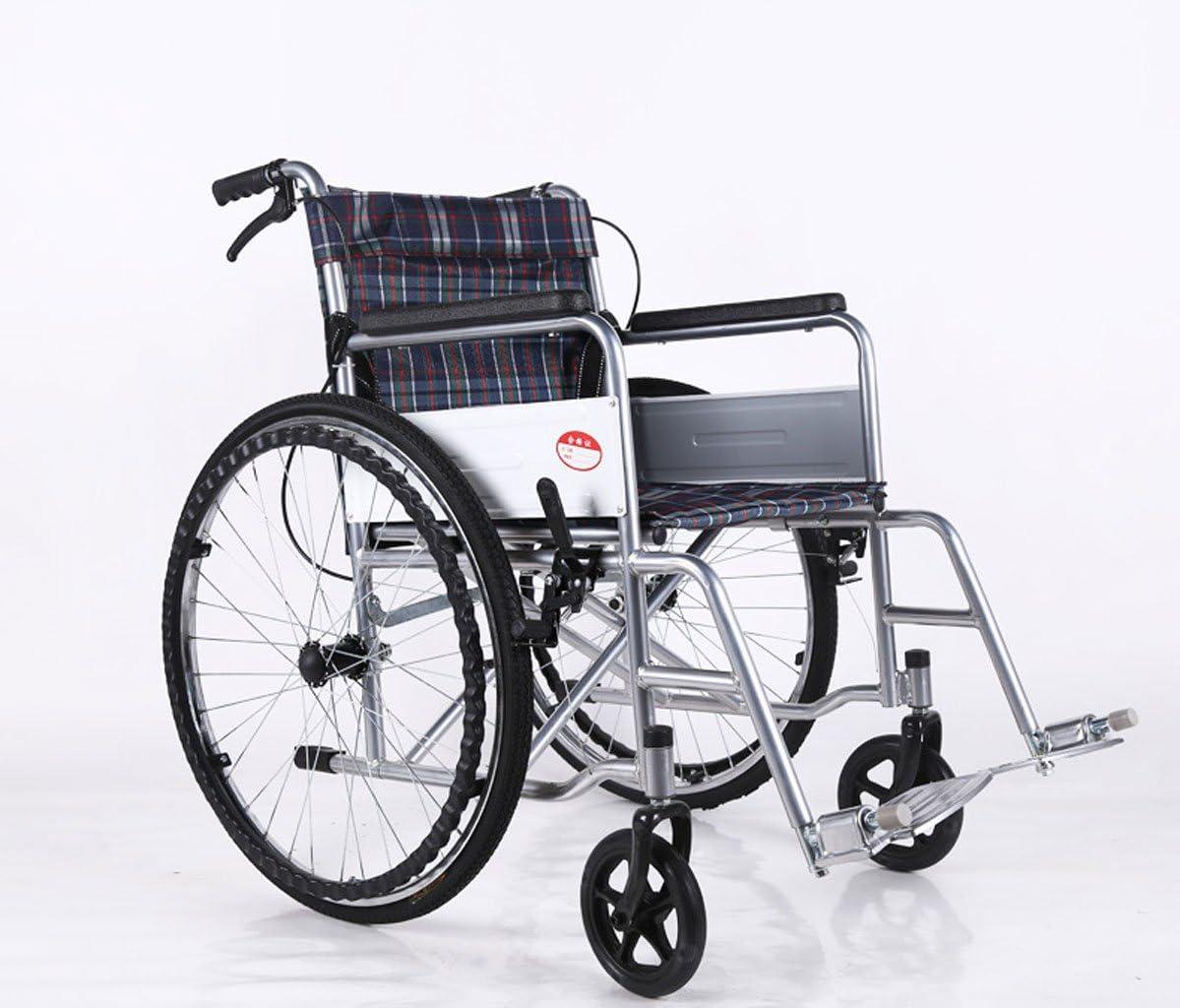 LiuBin- Silla de Ruedas Silla de Ruedas Manual, Plegado Ligero, discapacitado, Silla de Ruedas para Ancianos, Dispositivos médicos portátiles