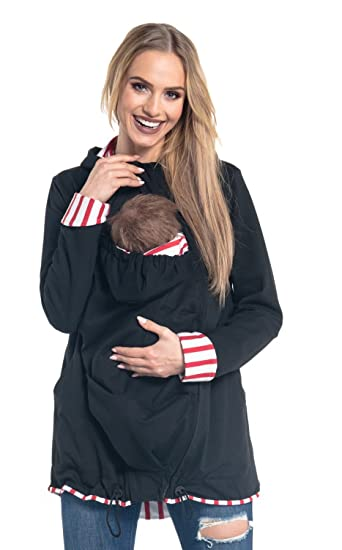 324590e4e38e Femme maternité sweat à capuche porte-bébé latérales réglables. 495p (