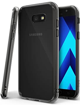 Ringke Fusion Compatible con Funda Galaxy A5 2017 Absorcion de Choque Cojín Carcasa para Galaxy A5 2017 - Negro Humo Smoke Black