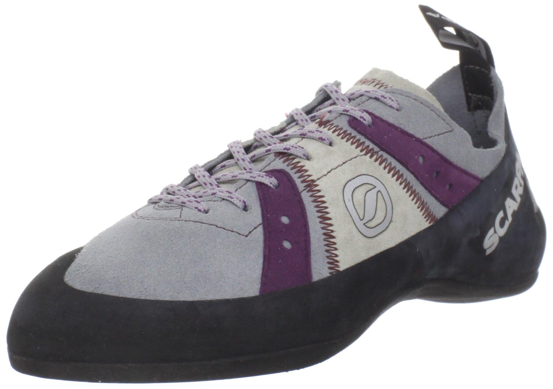 Scarpa Women's Helix Climbing Shoe,Pewter/Plum,41 EU/9 M US