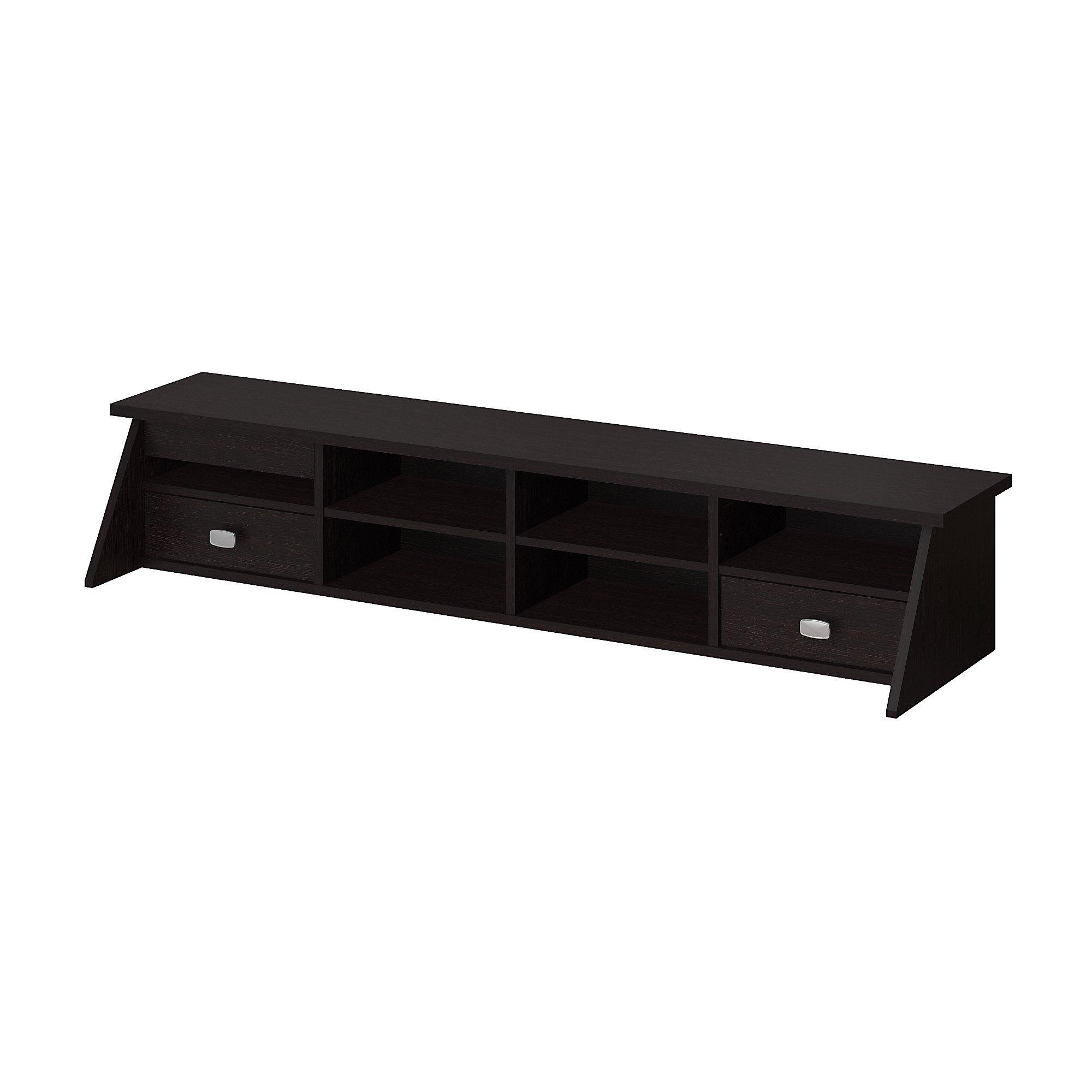 Bush Furniture Broadview Desktop Organizer in Espresso Oak