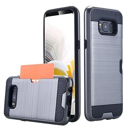 Amazon.com: Galaxy S8 Caso, lontect titular de la tarjeta de ...