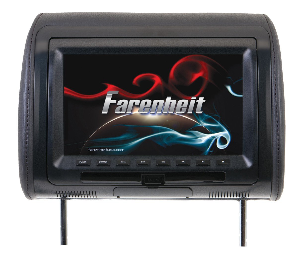Farenheit HRD-91CC 9'' Universal DVD Headrest with USB/Aux