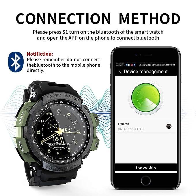 Amazon.com: ZUKN 1.14Inch Smartwatch Waterproof with ...