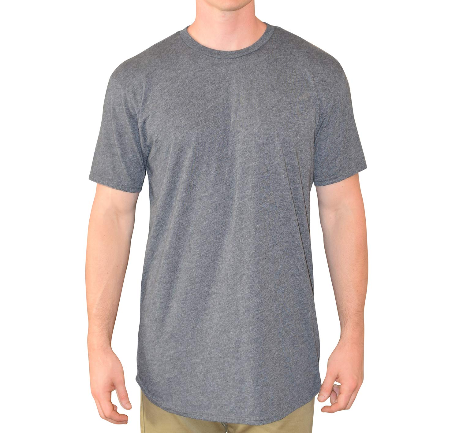 Have It Tall Men's Curved Hem Long Drop Tail T Shirt