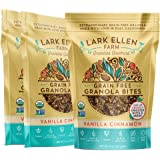 Lark Ellen Farm Grain Free Paleo Granola Bites Delicious Gluten Free Certified Organic Vegan Snacks and Cereal made from Sprouted and Activated Nuts and Seeds (Vanilla Cinnamon, 8 oz, 3 Pack)