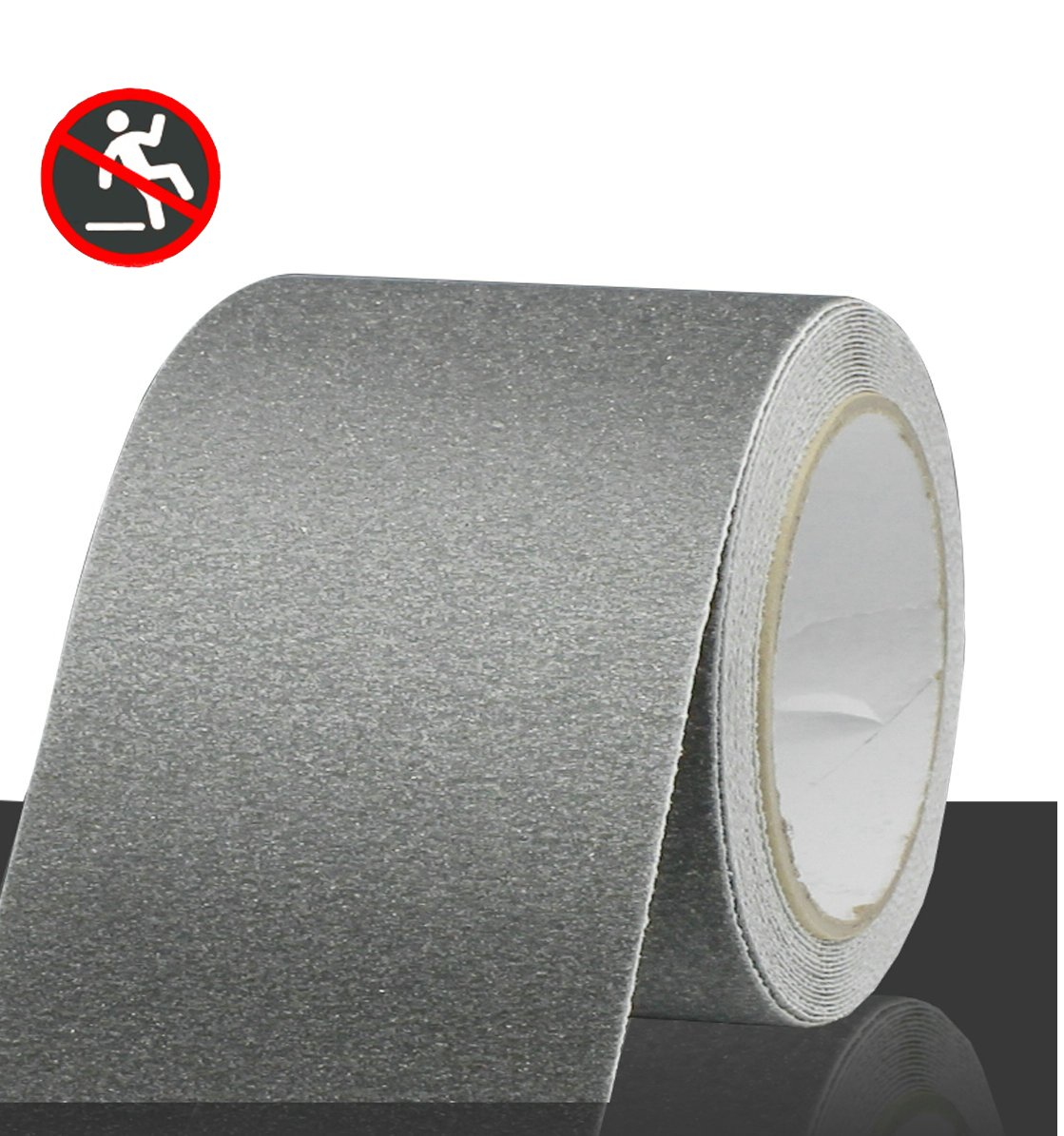 Professional Non-Slip Safety Tape, High Traction Grip for Stairs, Steps, Boats, Garage, Ladders, Slip-Resistant Strong Adhesive Treads, Indoor Outdoor (Width: 4 in × Length: 16.4 ft, Grey)