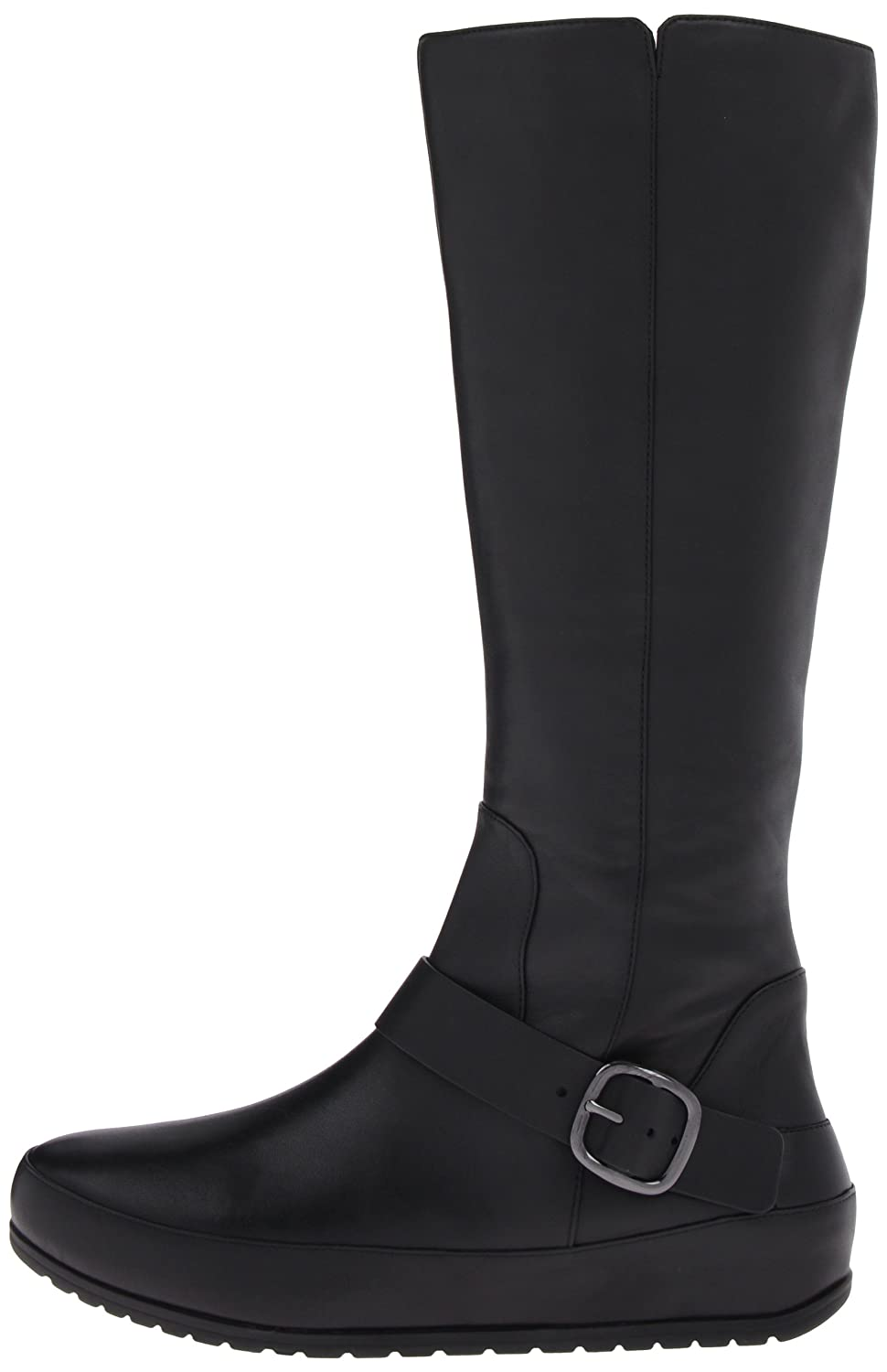 1ad112000d5 Fitflop Womens Duéboot™ Tall Buckle Black High Boots 5  Amazon.co.uk ...