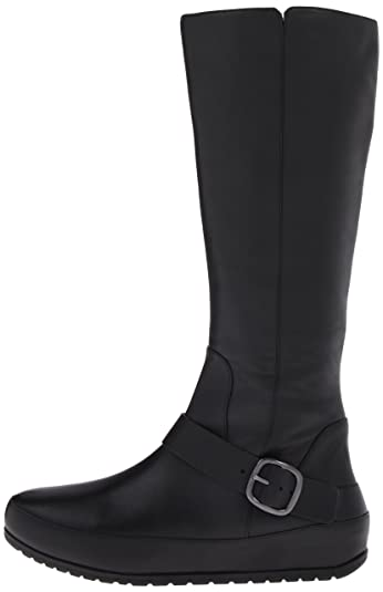 f1c22f8668f Fitflop Womens Duéboot™ Tall Buckle Black High Boots 5  Amazon.co.uk  Shoes    Bags