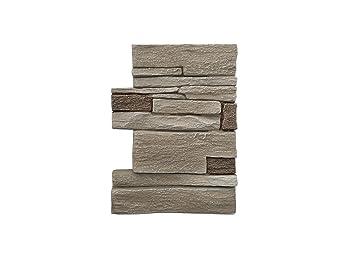 Wandverkleidung in Steinoptik für Küche • Terrasse • Schlafzimmer •  Wohnzimmer | Wandpaneele für mediterrane Wandgestaltung aus Hartschaum |  30cm x ...