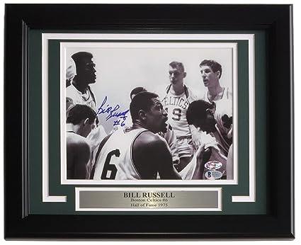 Bill Russell Signed Framed 8x10 Boston Celtics Photo BAS E63657 at ... b2ad1404a