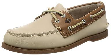 Authentic Original Sarape Boat Shoe: White / Camel